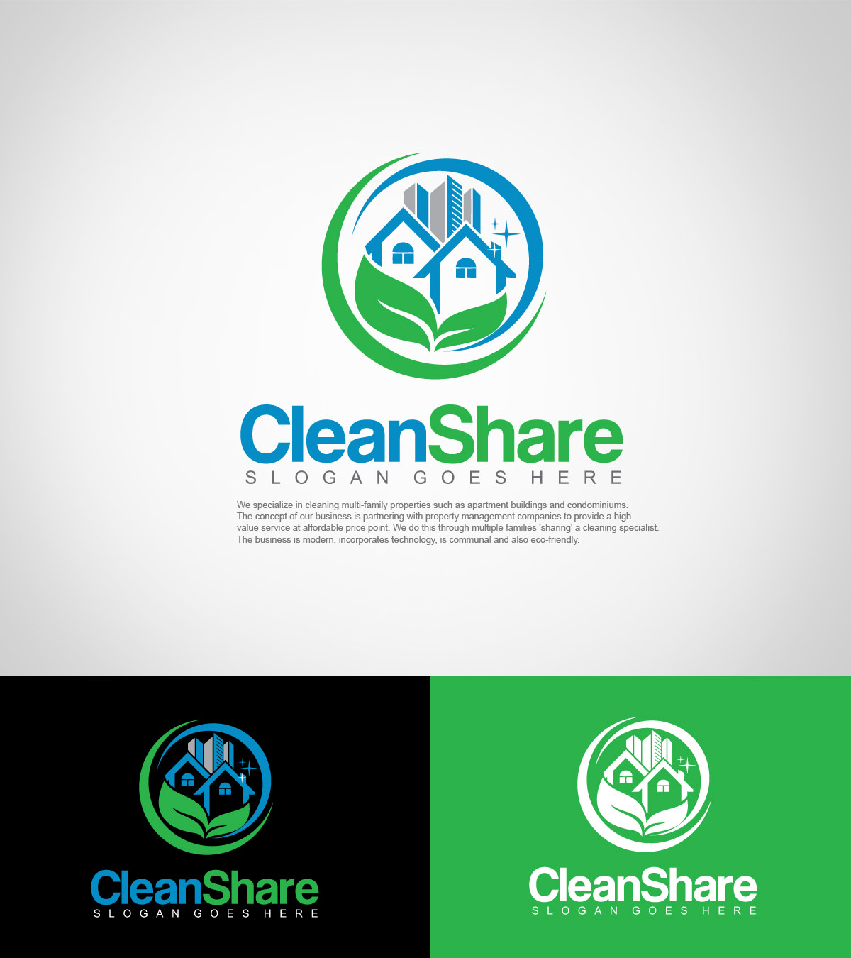 Cleaning services logo ideas images for Household design logo