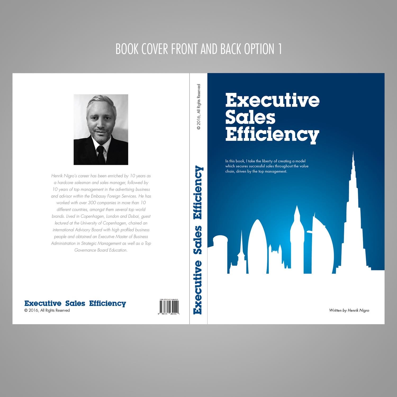 Simple Book Cover Template : Modern upmarket management consulting book cover design