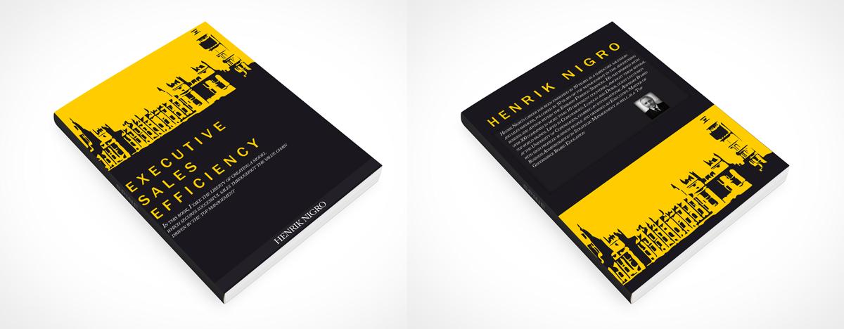 Modern Book Cover : Modern upmarket book cover design for henrik nigro by pop