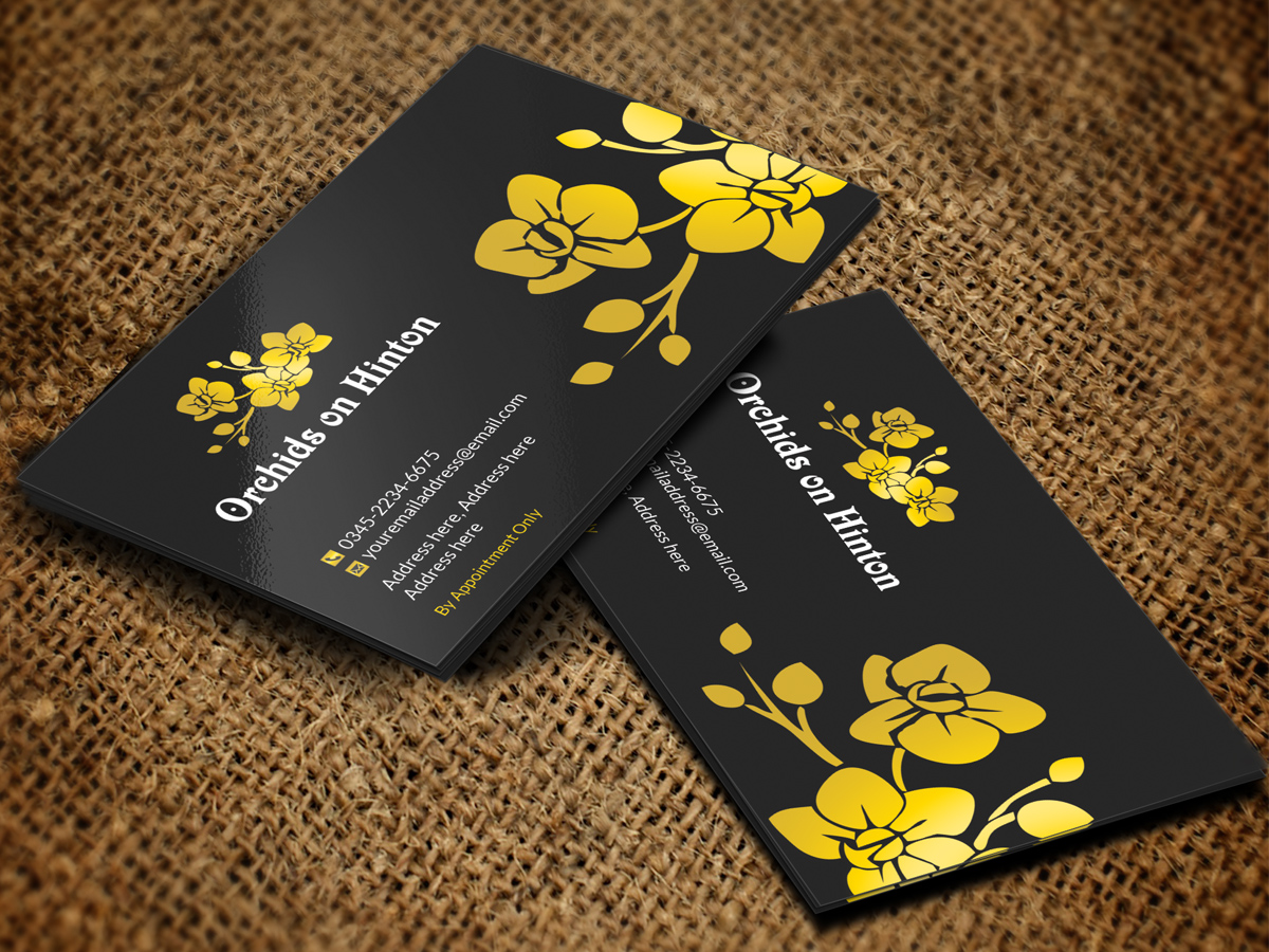 Business card design local best business cards personable elegant business card design for orchids on hinton by colourmoves