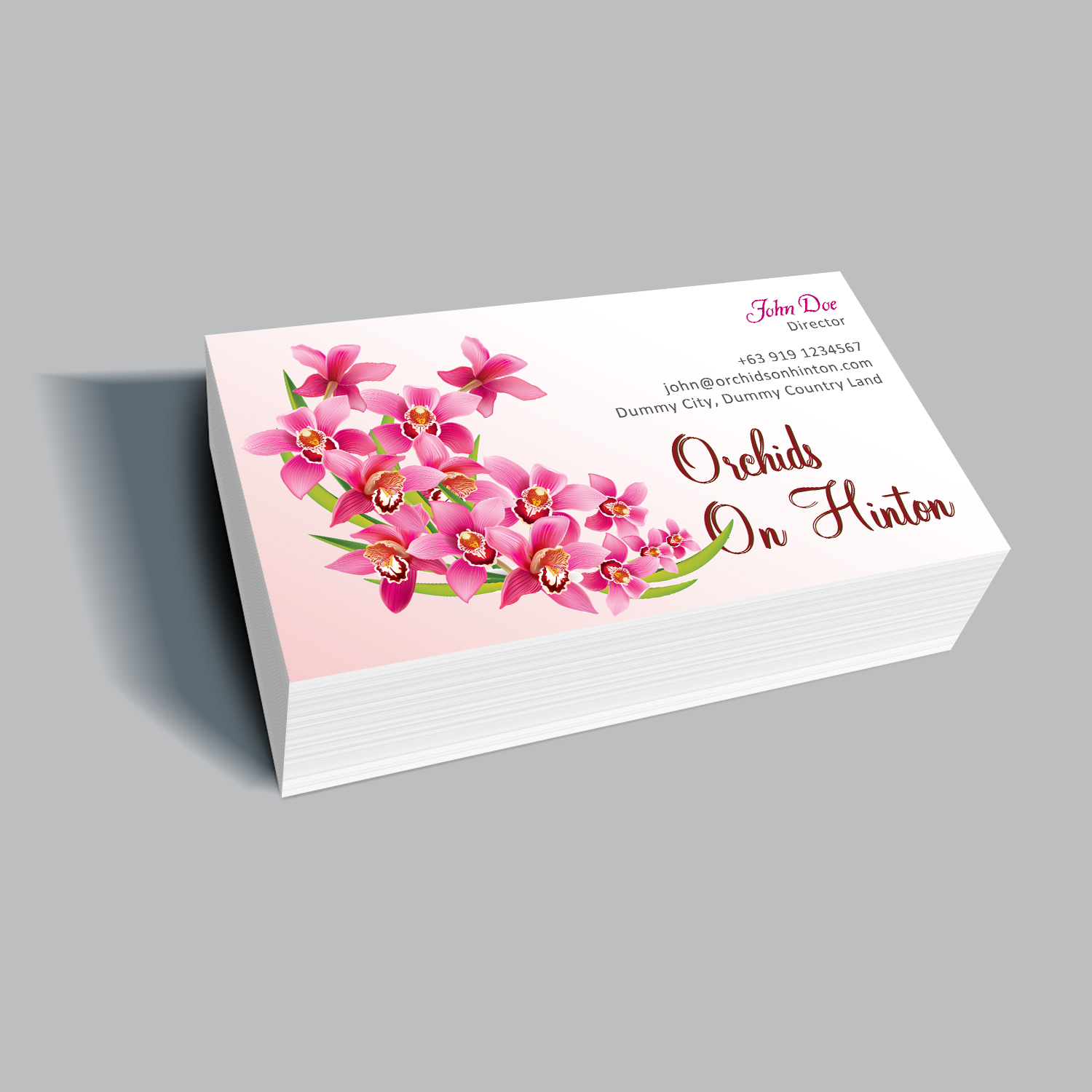 Personable, Elegant, Business Business Card Design for Orchids on ...