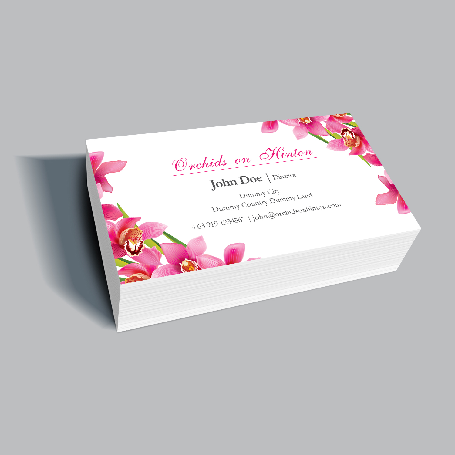 Personable elegant business card design for orchids on hinton by business card design by kreative fingers for new local orchid nursery branding design 10935737 magicingreecefo Choice Image
