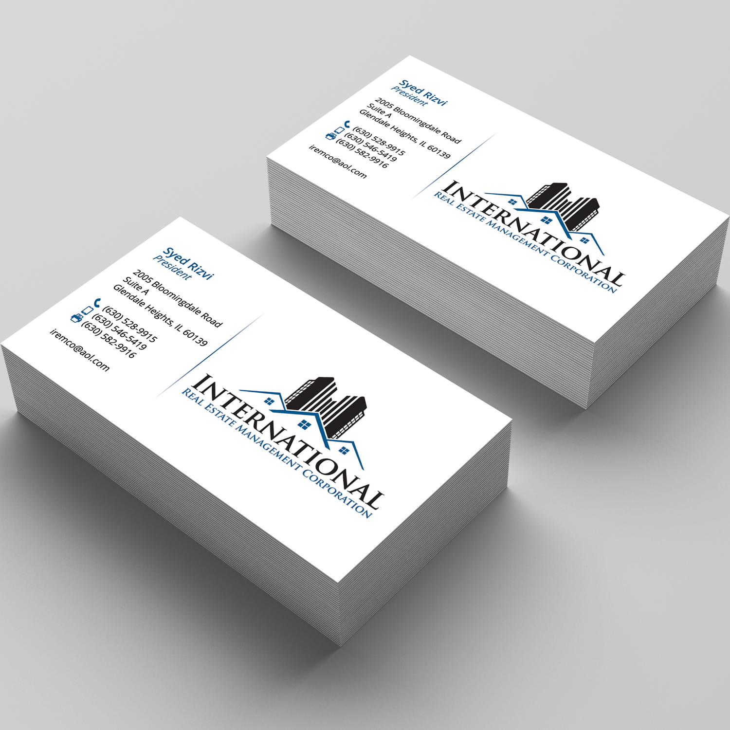 Elegant Playful Real Estate Business Card Design For A Company By