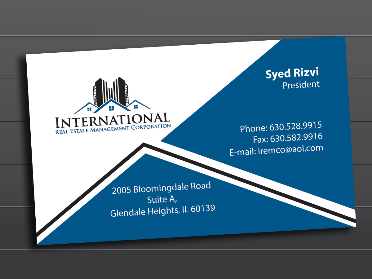 Elegant playful real estate business card design for a company by business card design by ask design for this project design 10999768 colourmoves