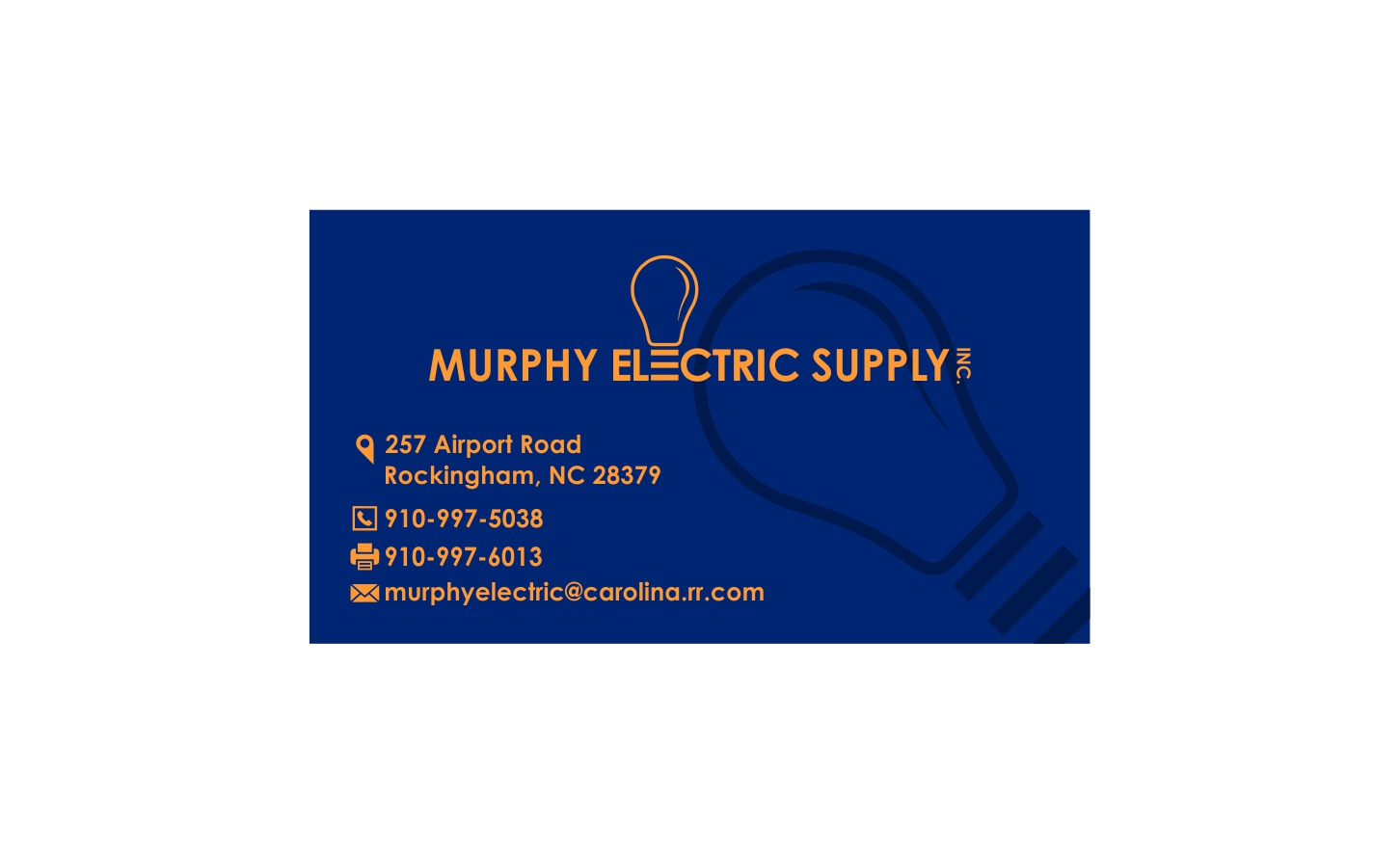 Elegant playful electrical business card design for murphy business card design by dzoker for murphy electric supply inc design 10952574 colourmoves