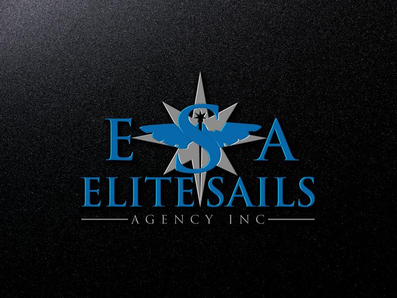 Elegant Colorful Shipping Logo Design For Elite Sails Agency Inc