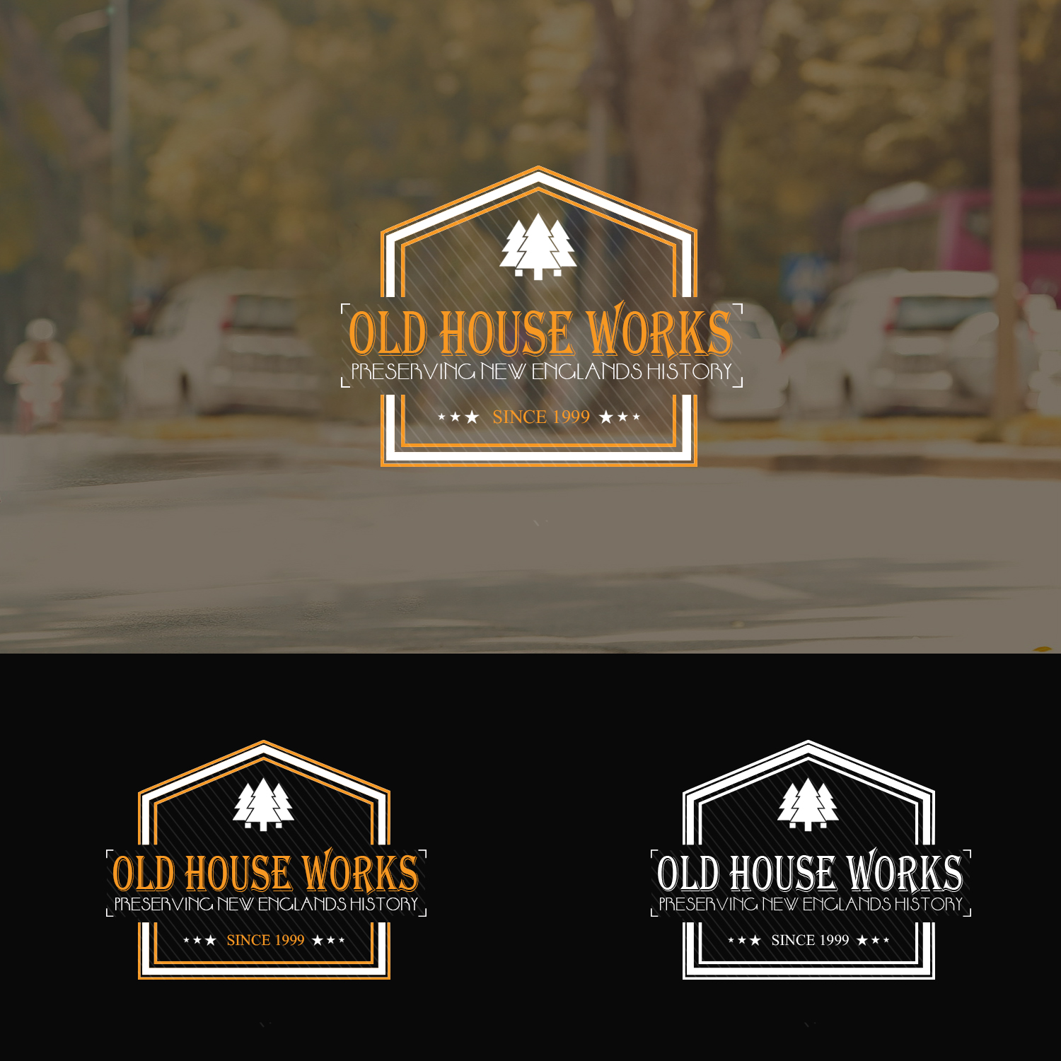 Logo Design By Xclusive Designer For Old House Works (Company Restoring  Historical Windows And Doors