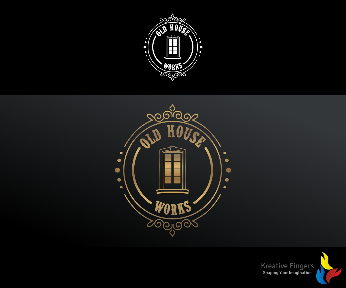 Great Logo Design By Kreative Fingers For Old House Works (Company Restoring  Historical Windows And Doors