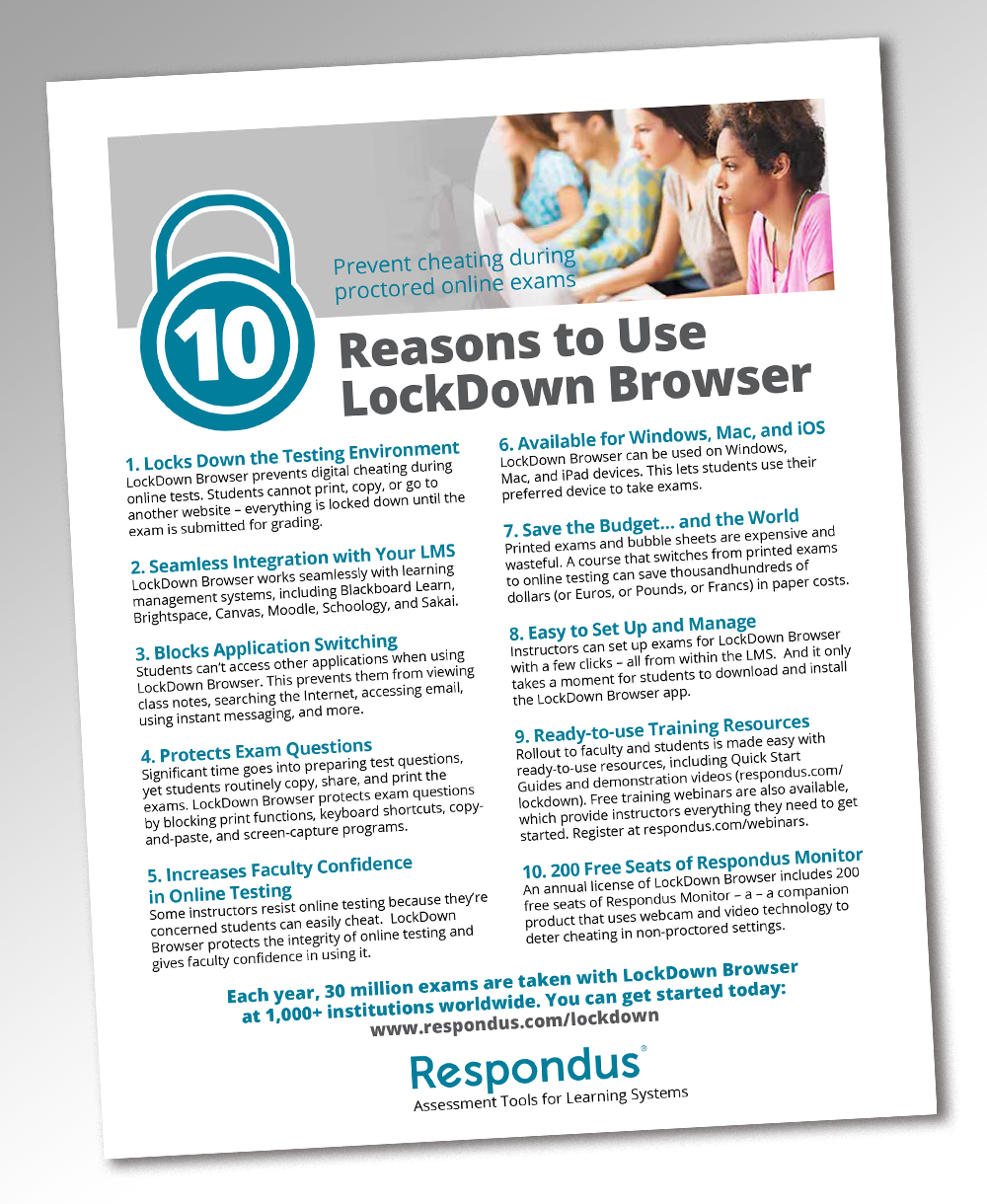 bold serious software flyer design for respondus by andrew3344