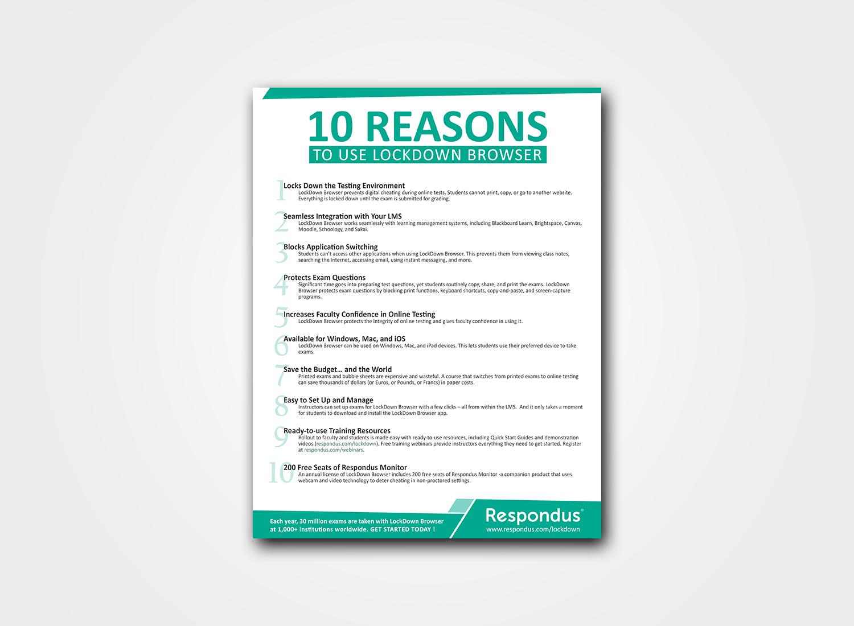bold serious software flyer design for respondus by sk matrix