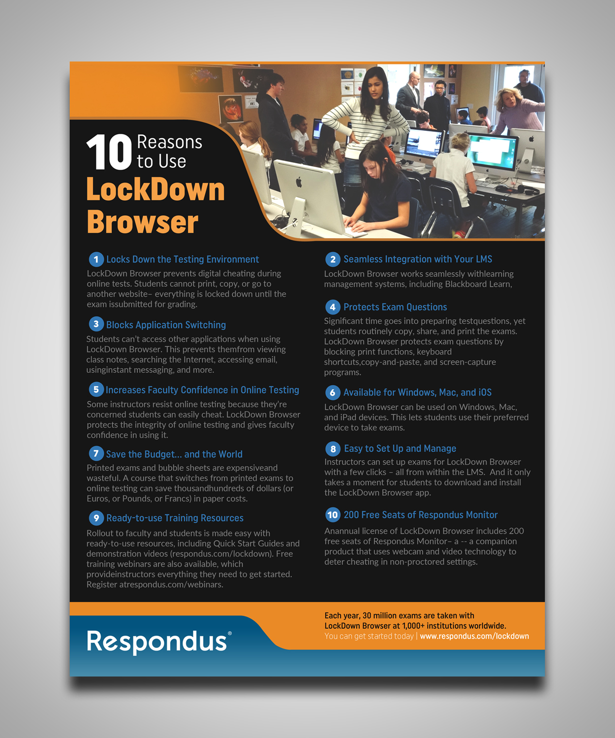 bold serious software flyer design for respondus by gfx 26