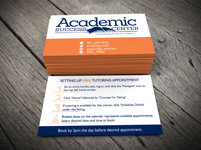 Modern upmarket business card design by alhemique1 design 10984792 business card design by alhemique1 for academic success center business cards design 10984792 reheart Choice Image