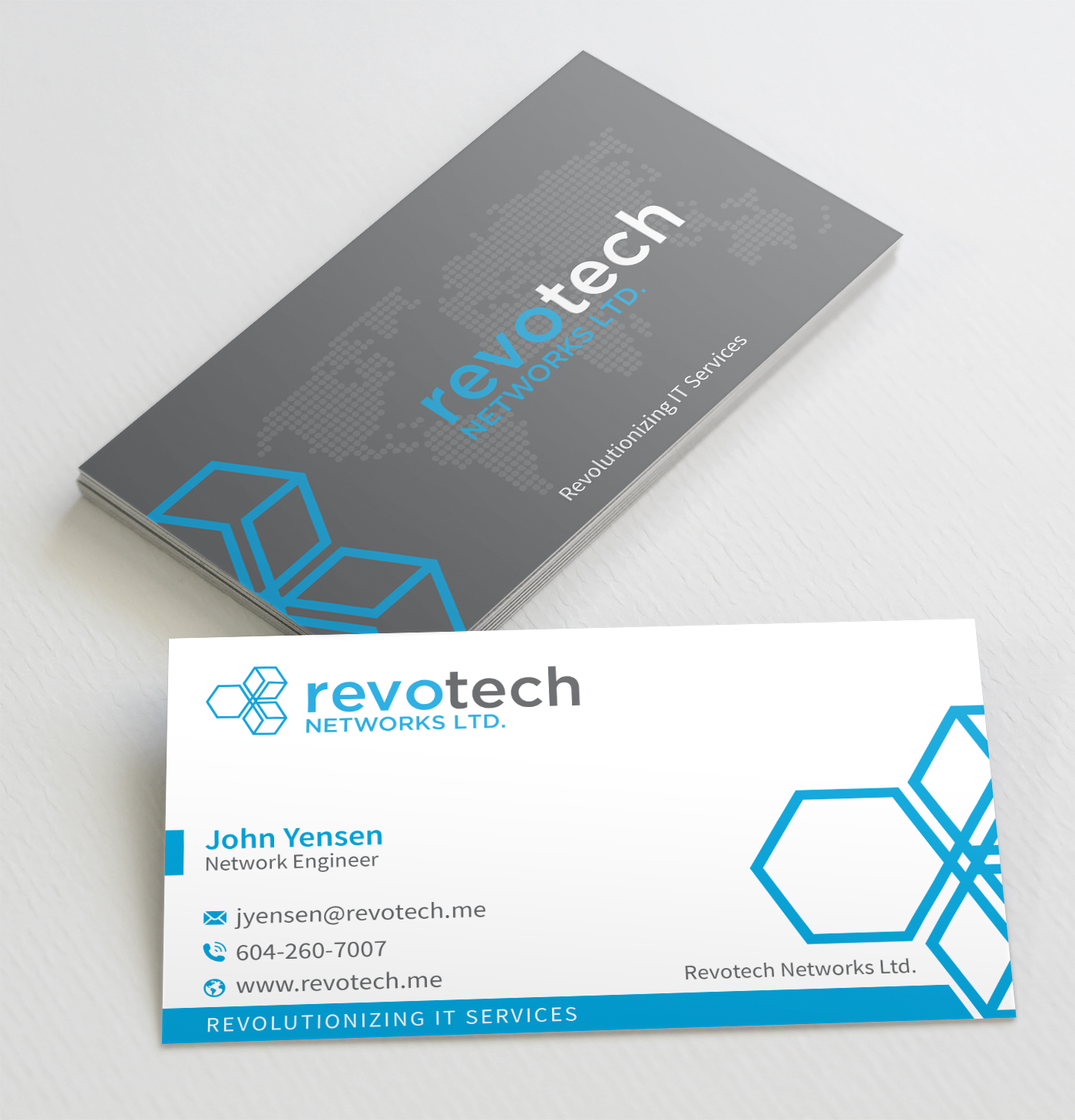 Modern, Bold, Information Technology Business Card Design for ...