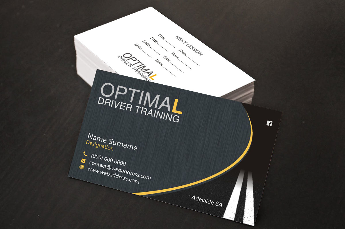 Modern professional business card design by poonam gupta design business card design by poonam gupta for driving school business card design design 10982950 reheart Image collections