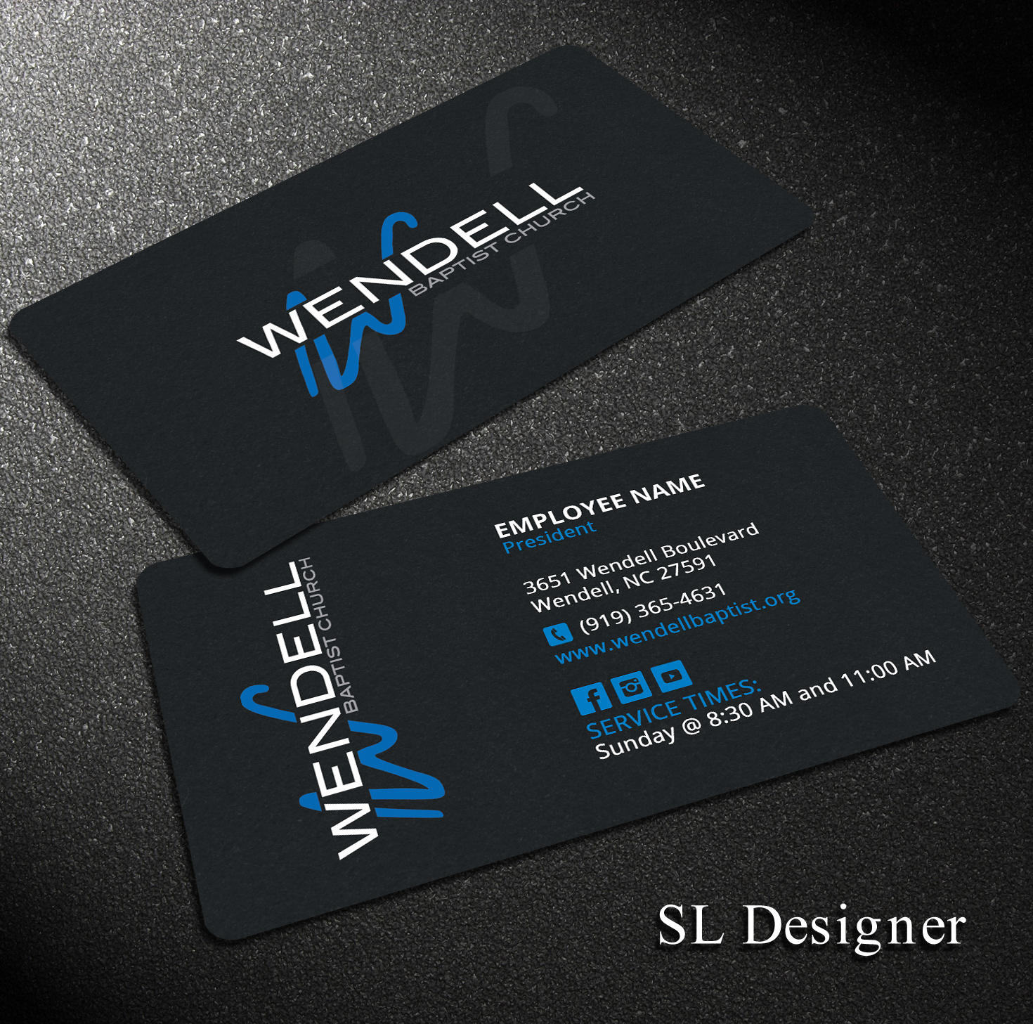 Bold, Playful Business Card Design for Wendell Baptist Church by ...