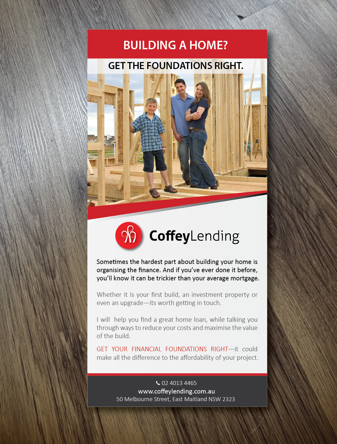 flyer design by alex989 for home loan flyer design home builders design 10991216 - Designer Home Builders