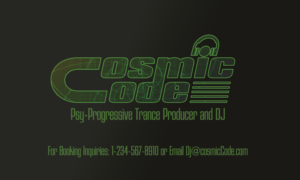 Name Card For A Music Artist Producer DJ And Performer Genre Psy