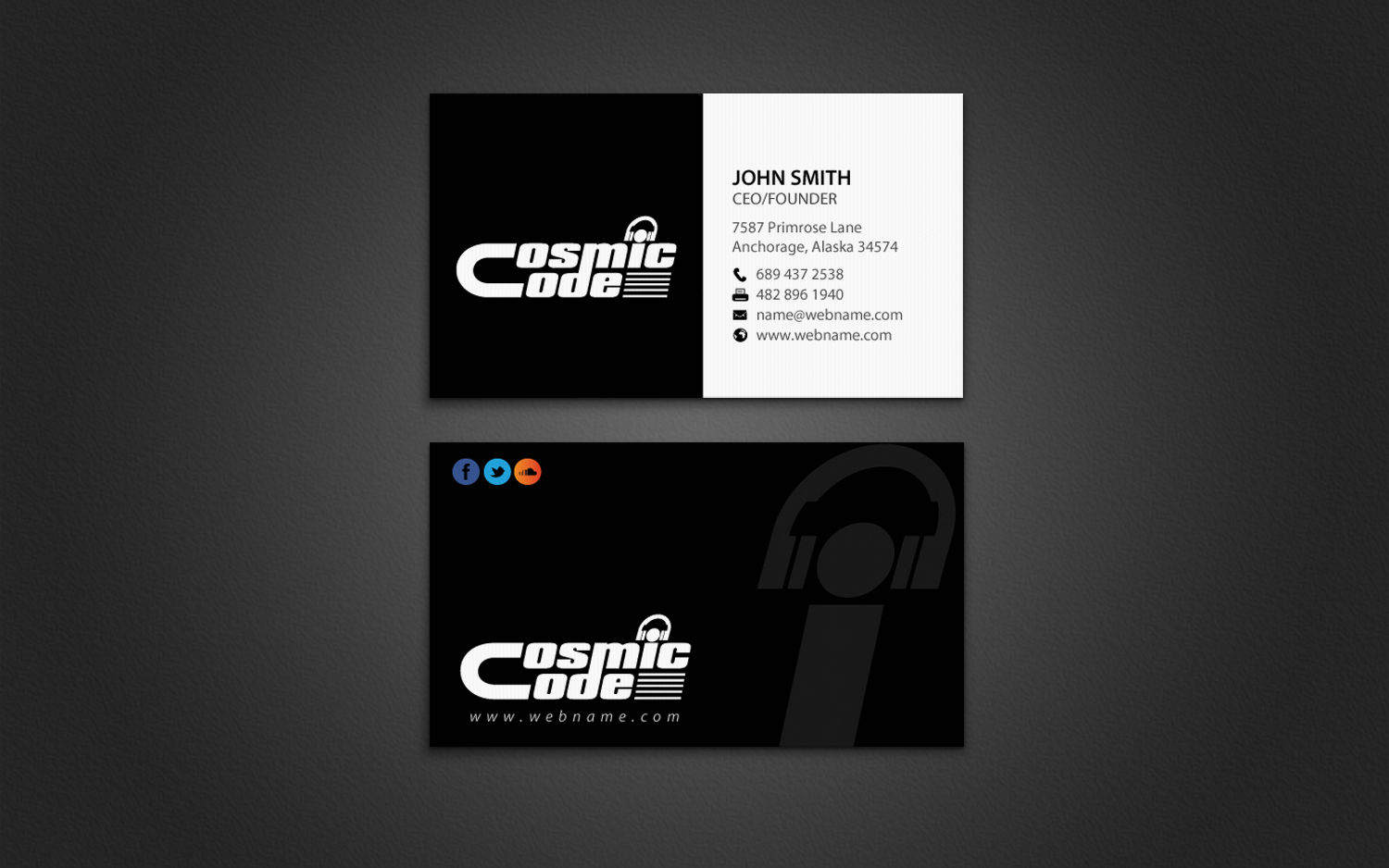 Modern professional business card design for patrick riesen by business card design by chandrayaaneative for name card for a music artist producer magicingreecefo Images