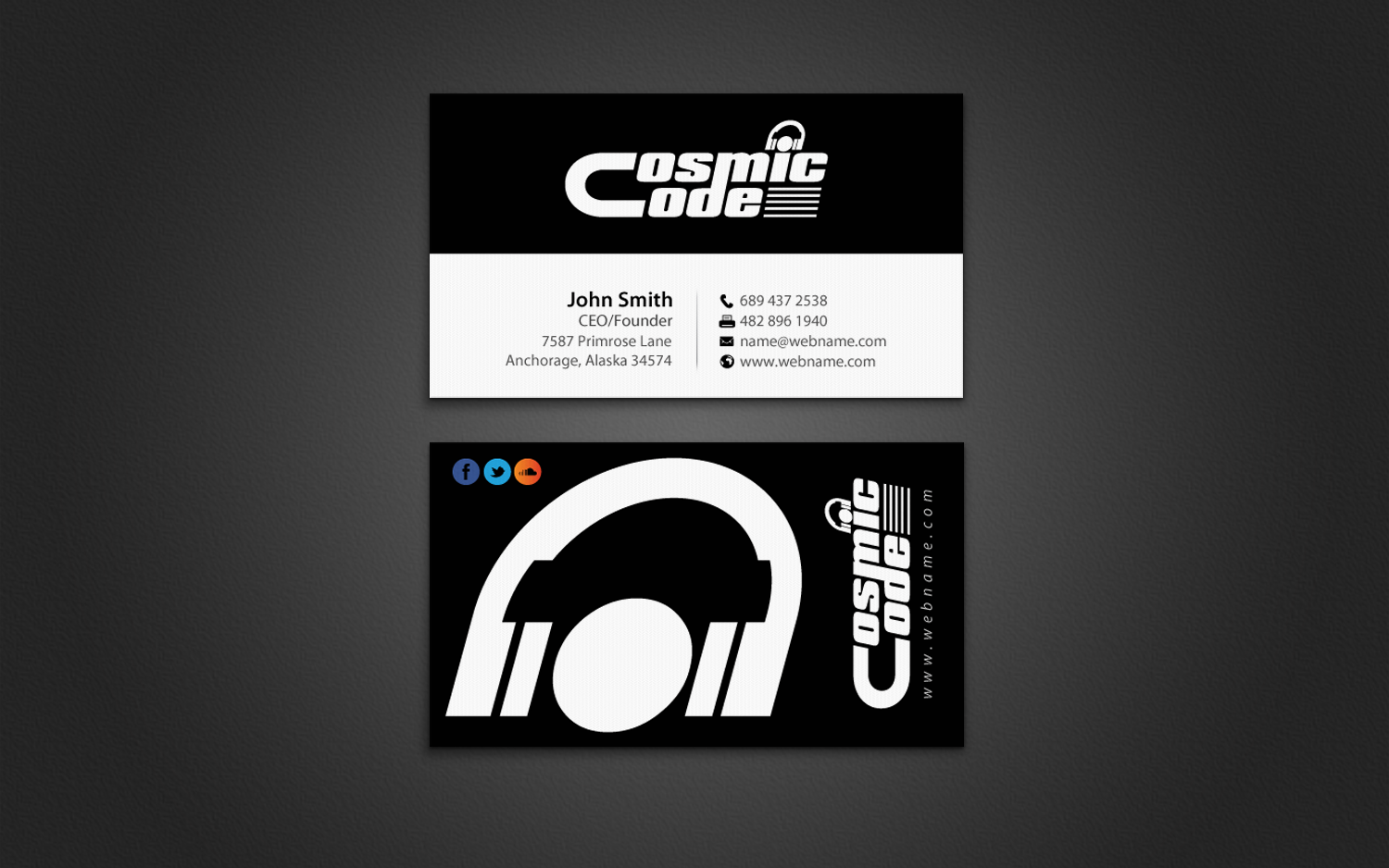 Business Card Design By Chandrayaancreative For Name A Music Artist Producer