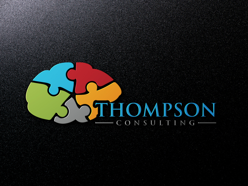 Modern Professional Business Consultant Logo Design For Thompson