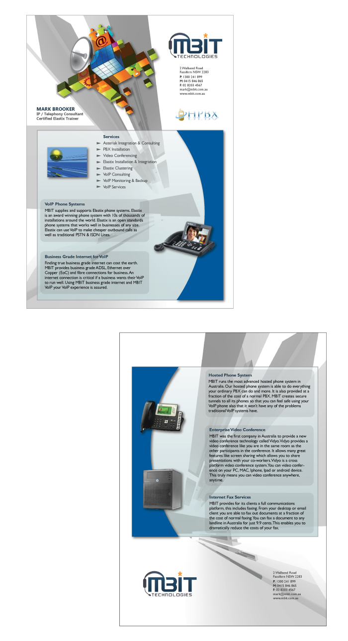 Serious, Masculine, Internet Flyer Design for a Company by ...