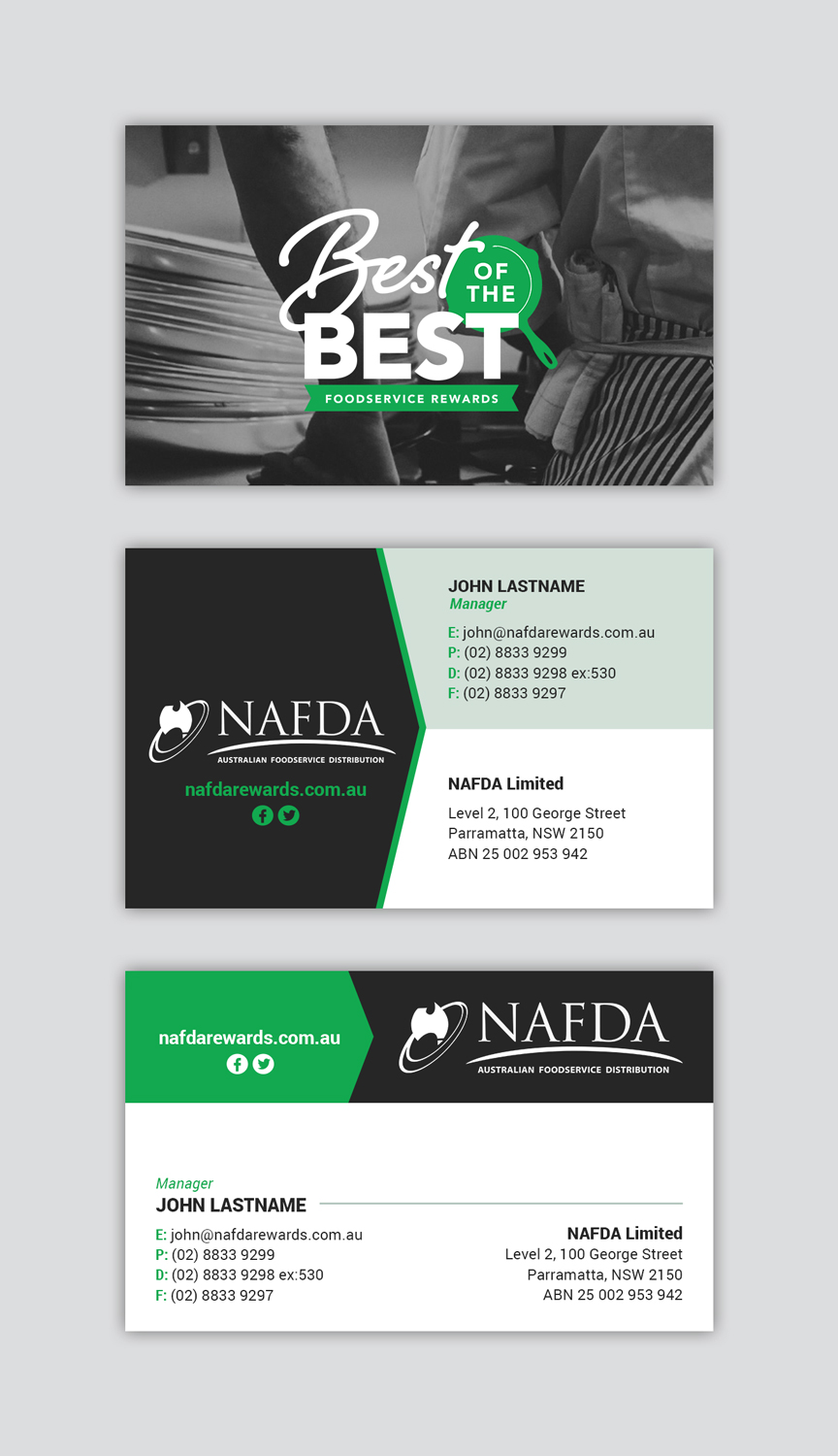 Modern masculine distribution business card design for nafda business card design by mind for nafda limited design 11027665 reheart Gallery