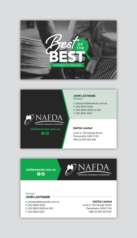 Modern, Masculine Business Card Design for NAFDA Limited by MIND ...