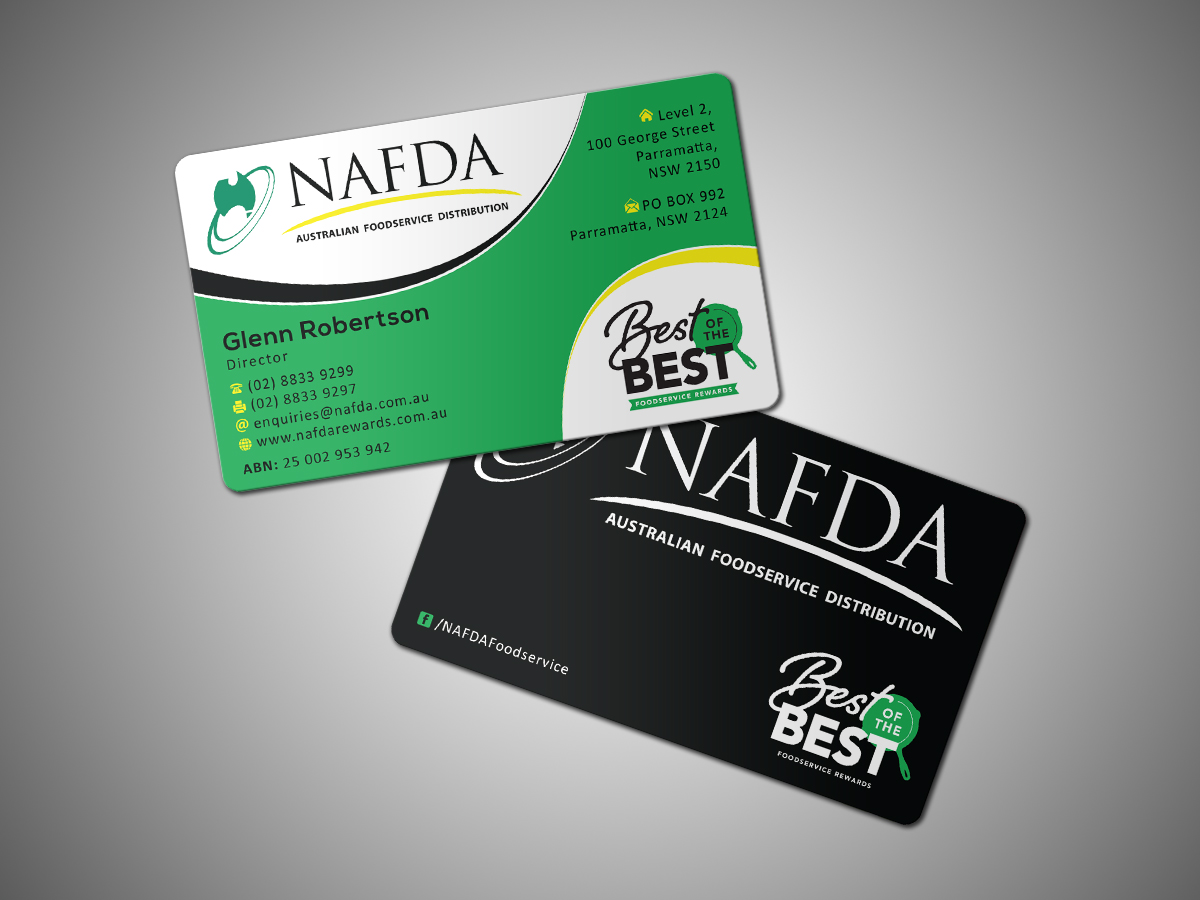 Modern, Masculine Business Card Design for NAFDA Limited by ...