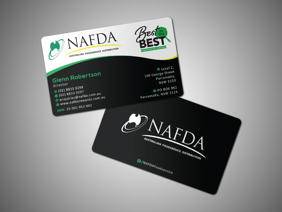 Modern, Masculine, Distribution Business Card Design for NAFDA ...