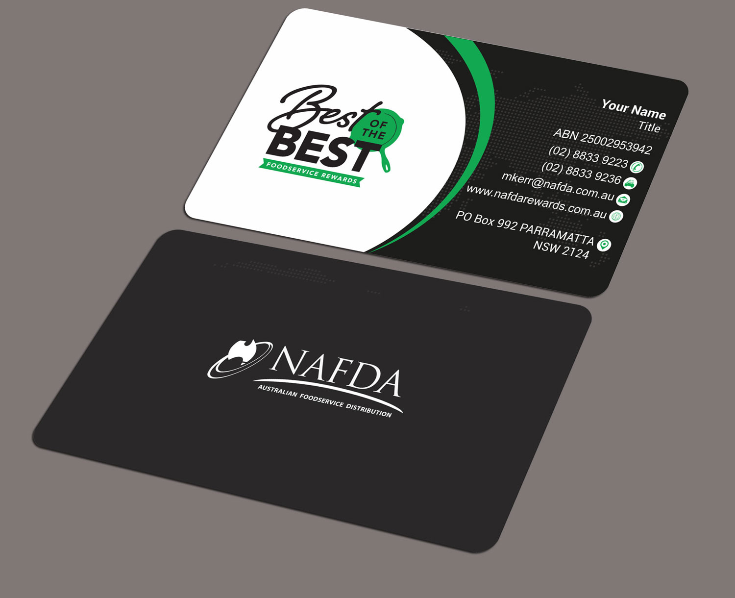Modern, Masculine, Distribution Business Card Design for NAFDA ...
