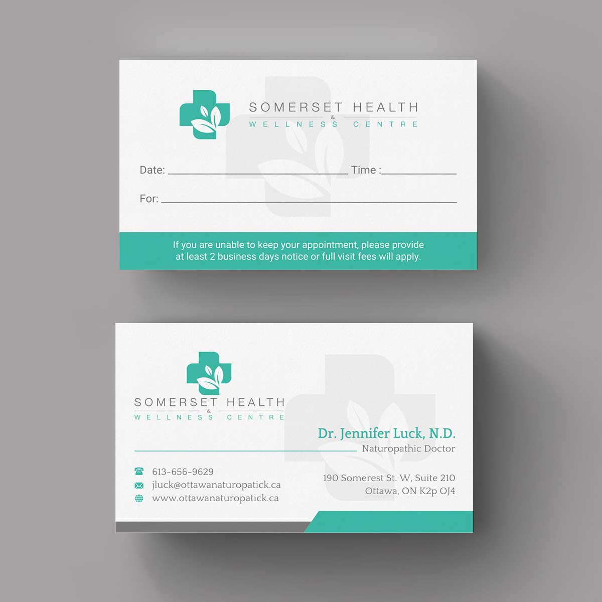 Serious upmarket health and wellness business card design for business card design by indianashok for somerset health wellness centre design 11017264 reheart Image collections
