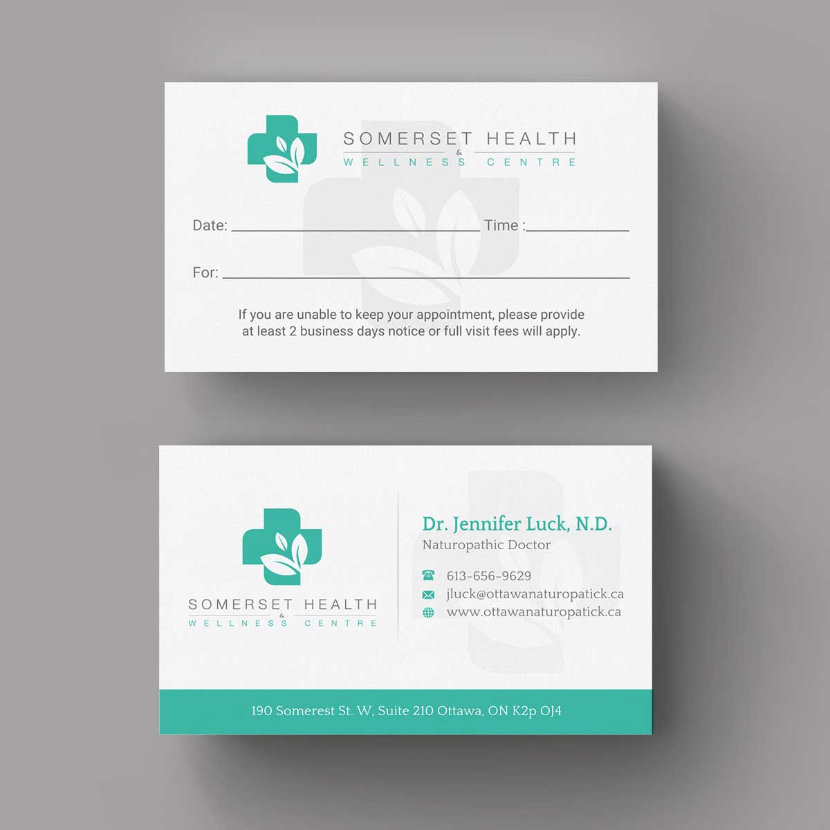 Serious upmarket health and wellness business card design for business card design by indianashok for somerset health wellness centre design 11024219 reheart Images
