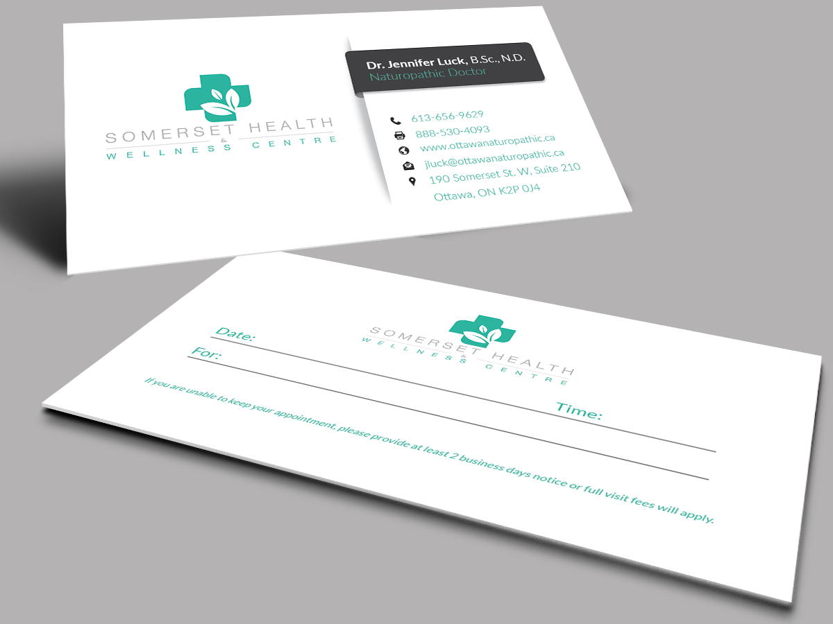 Serious upmarket health and wellness business card design for business card design by selda for somerset health wellness centre design 11027115 reheart Image collections
