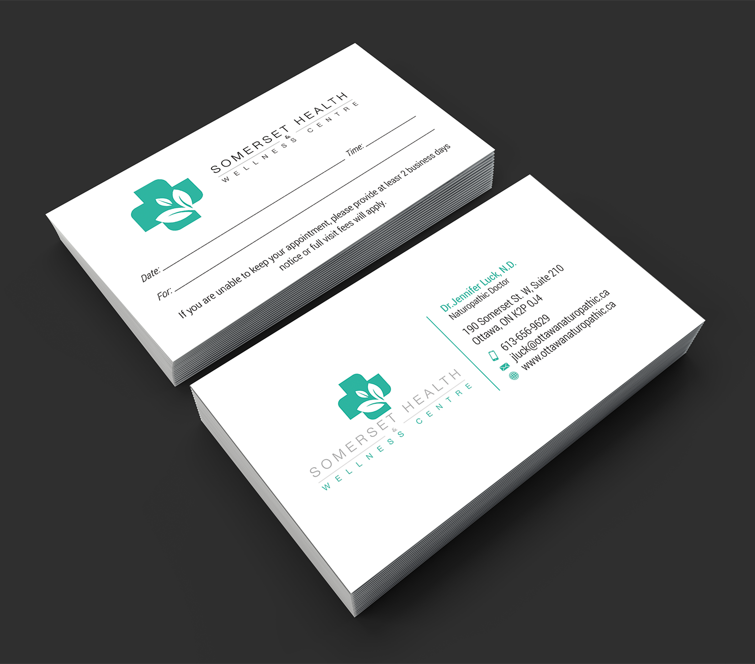 Serious upmarket health and wellness business card design for business card design by premnice for somerset health wellness centre design 11108158 reheart Image collections