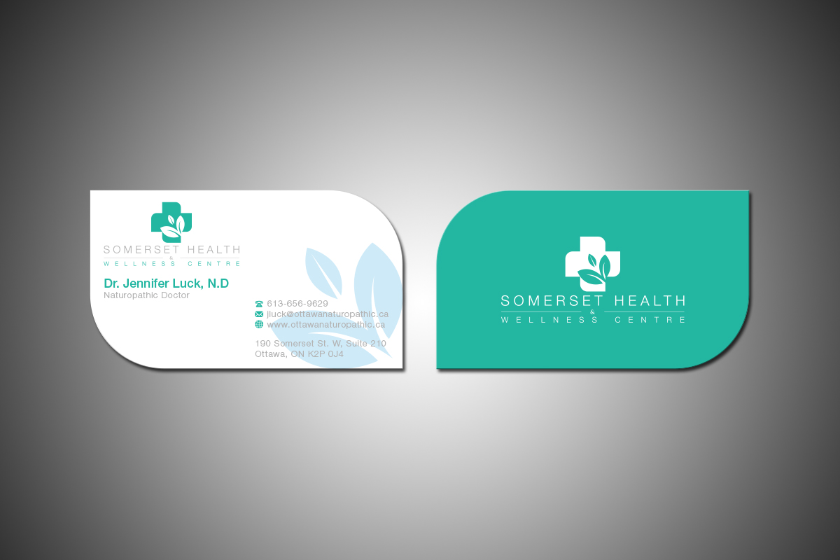 Serious upmarket health and wellness business card design for business card design by grafactory for somerset health wellness centre design 11069740 reheart Images