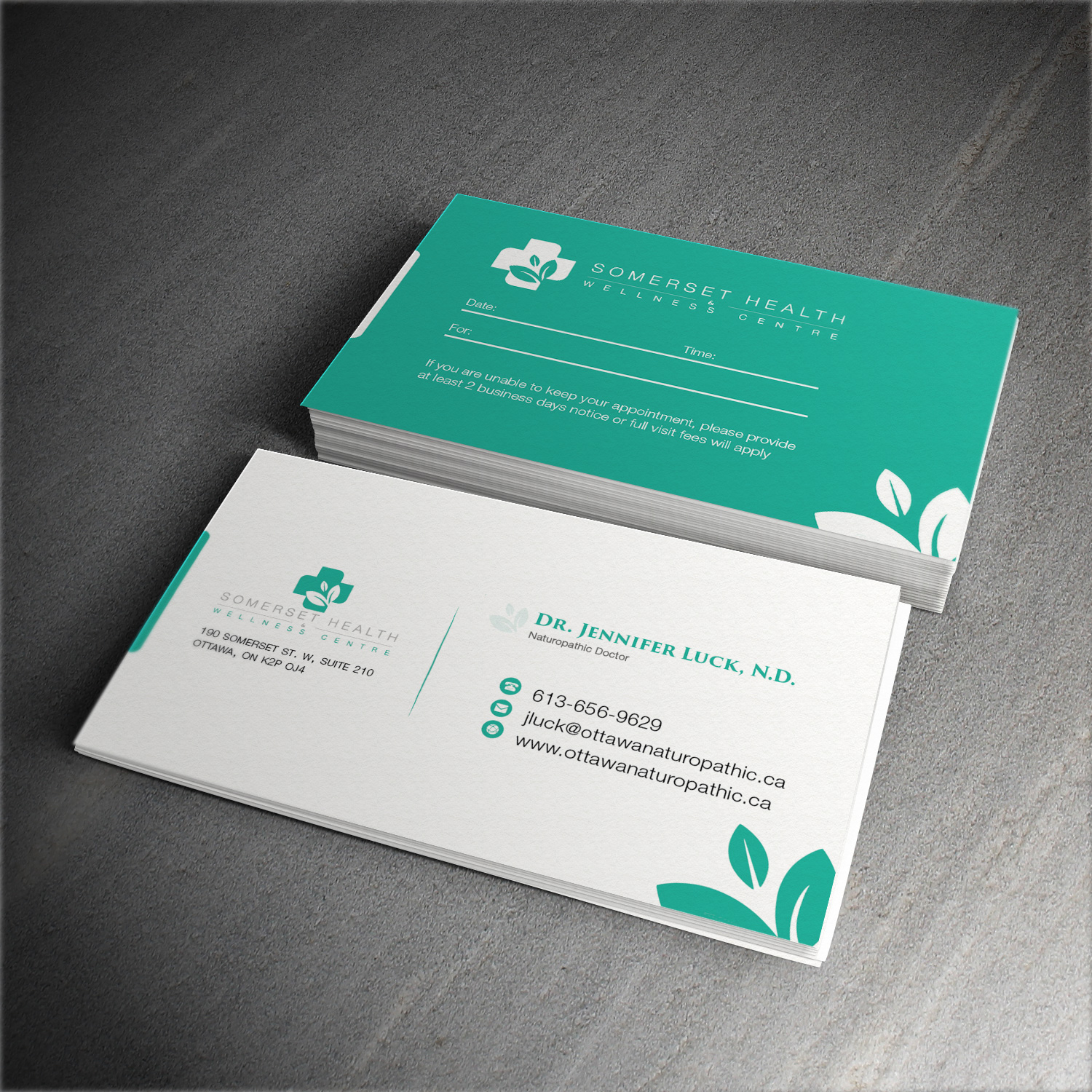 Serious upmarket health and wellness business card design for business card design by waqas ahmed for somerset health wellness centre design 11104102 reheart Image collections