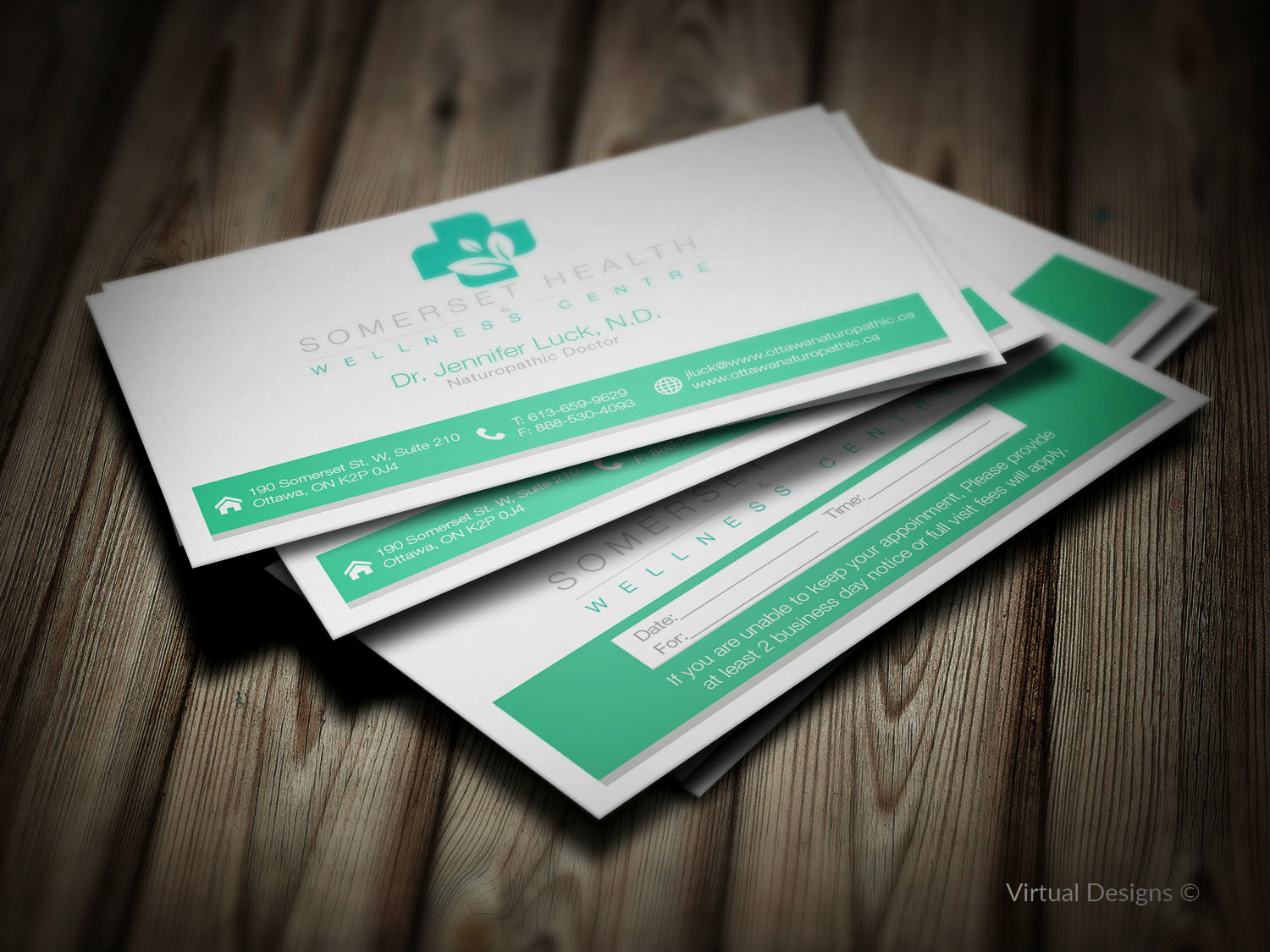 Serious upmarket health and wellness business card design for business card design by virtual designs for somerset health wellness centre design 11013415 reheart Choice Image
