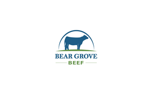 Logo Design by Dizajn - Bear Grove Beef Inc. logo design - beef and cat...