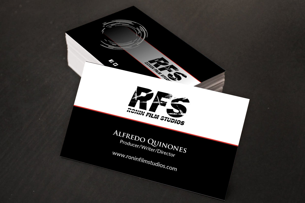 Professional bold film production business card design for a business card design by poonam gupta for this project design 11024120 colourmoves