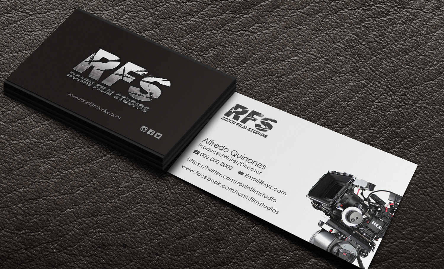 a new collection of black business cards for your inspiration film