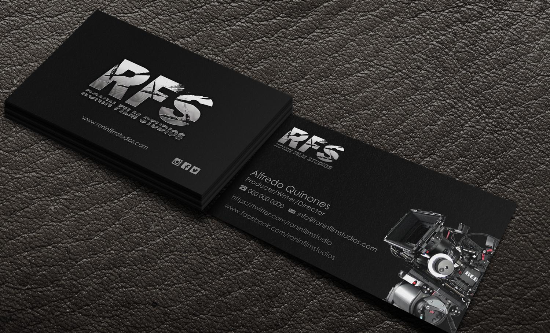 180 professional business card designs film production business business card design by riz for this project design 11092267 colourmoves
