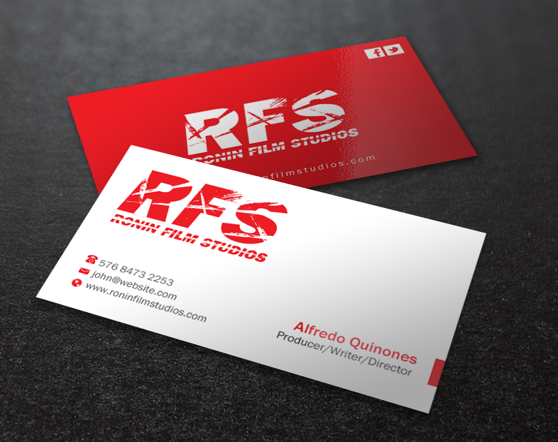 Professional bold film production business card design for a business card design by brand aid for this project design 11027917 colourmoves Image collections