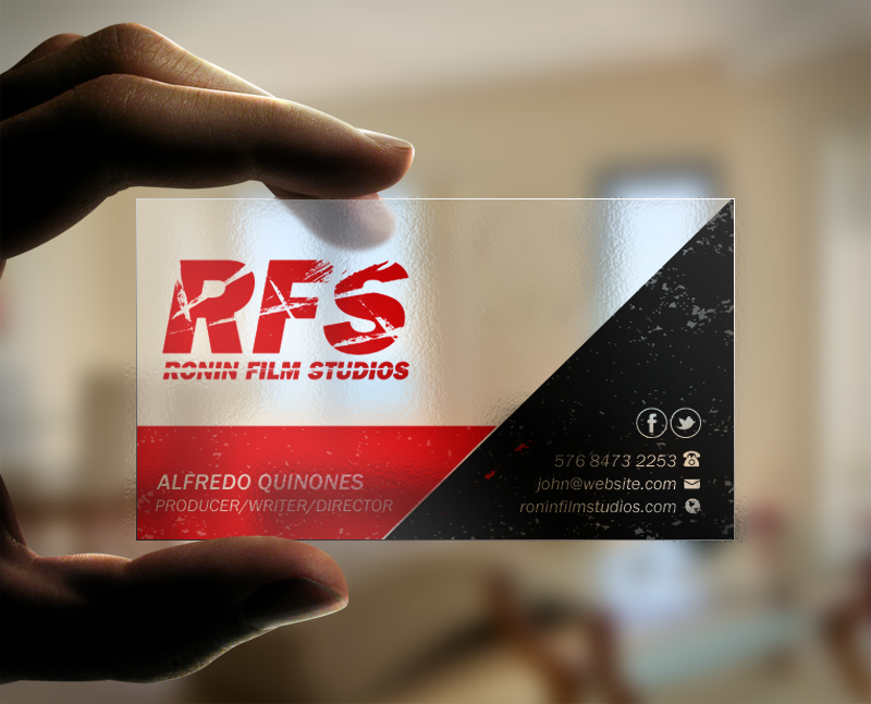 Professional bold film production business card design for a business card design by brand aid for this project design 11034800 colourmoves
