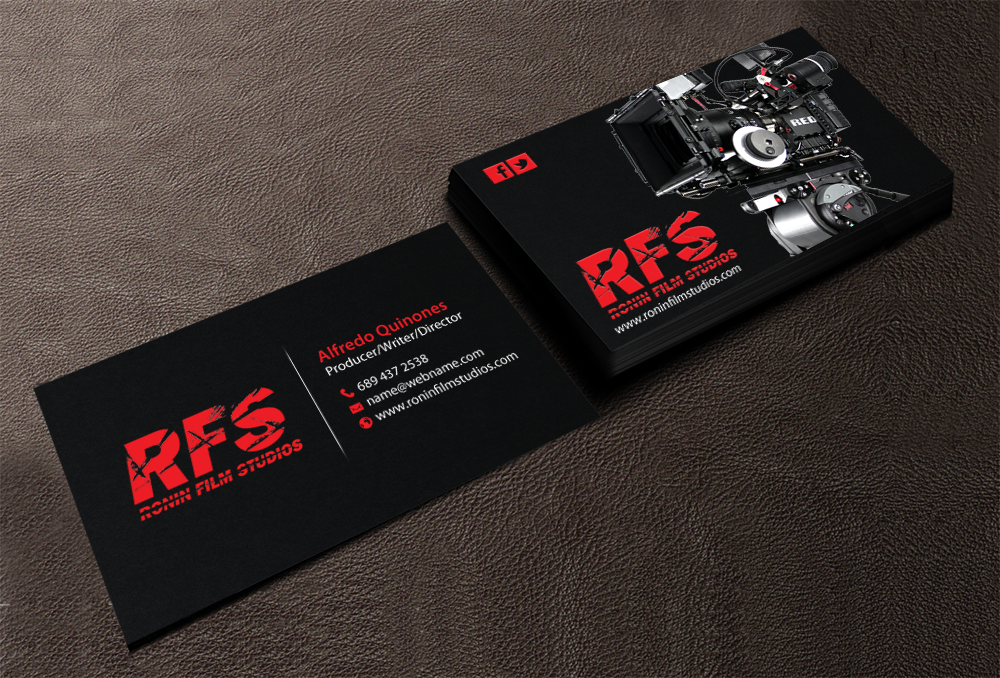 Professional bold business card design for alfredo quinones by business card design by chandrayaaneative for indy film production companystudio design colourmoves Image collections