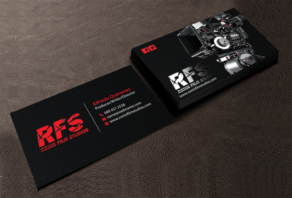 Film production business cards arts arts professional bold film production business card design for a colourmoves