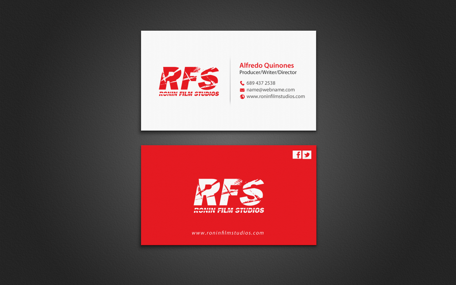 Professional bold film production business card design for a business card design by chandrayaaneative for this project design 11027834 colourmoves