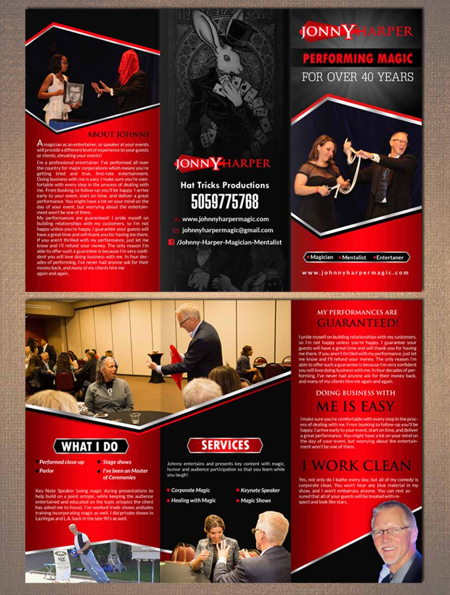 Modern, Professional, Entertainment Industry Flyer Design for Here
