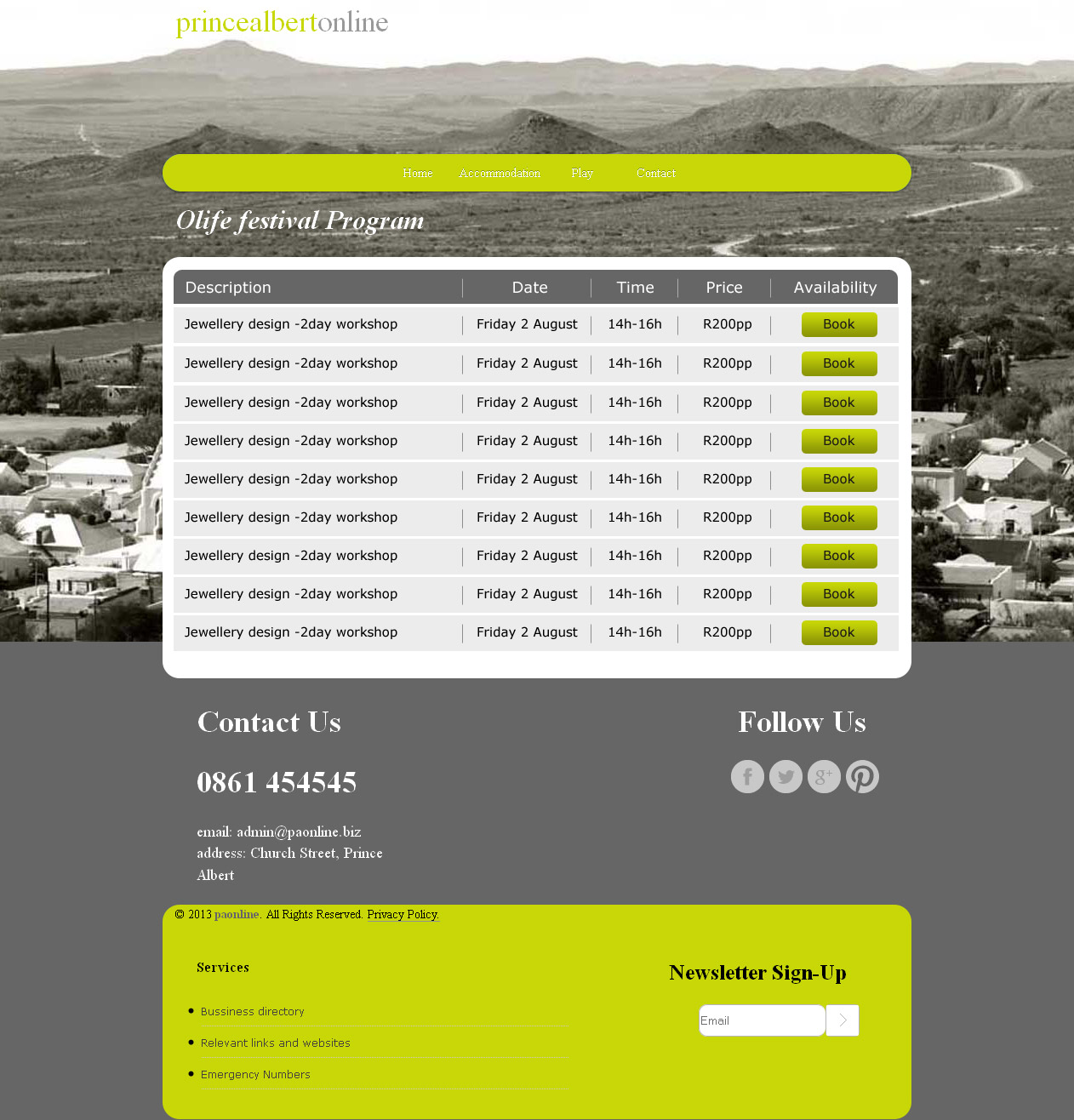 Elegant playful restaurant web design for a company by