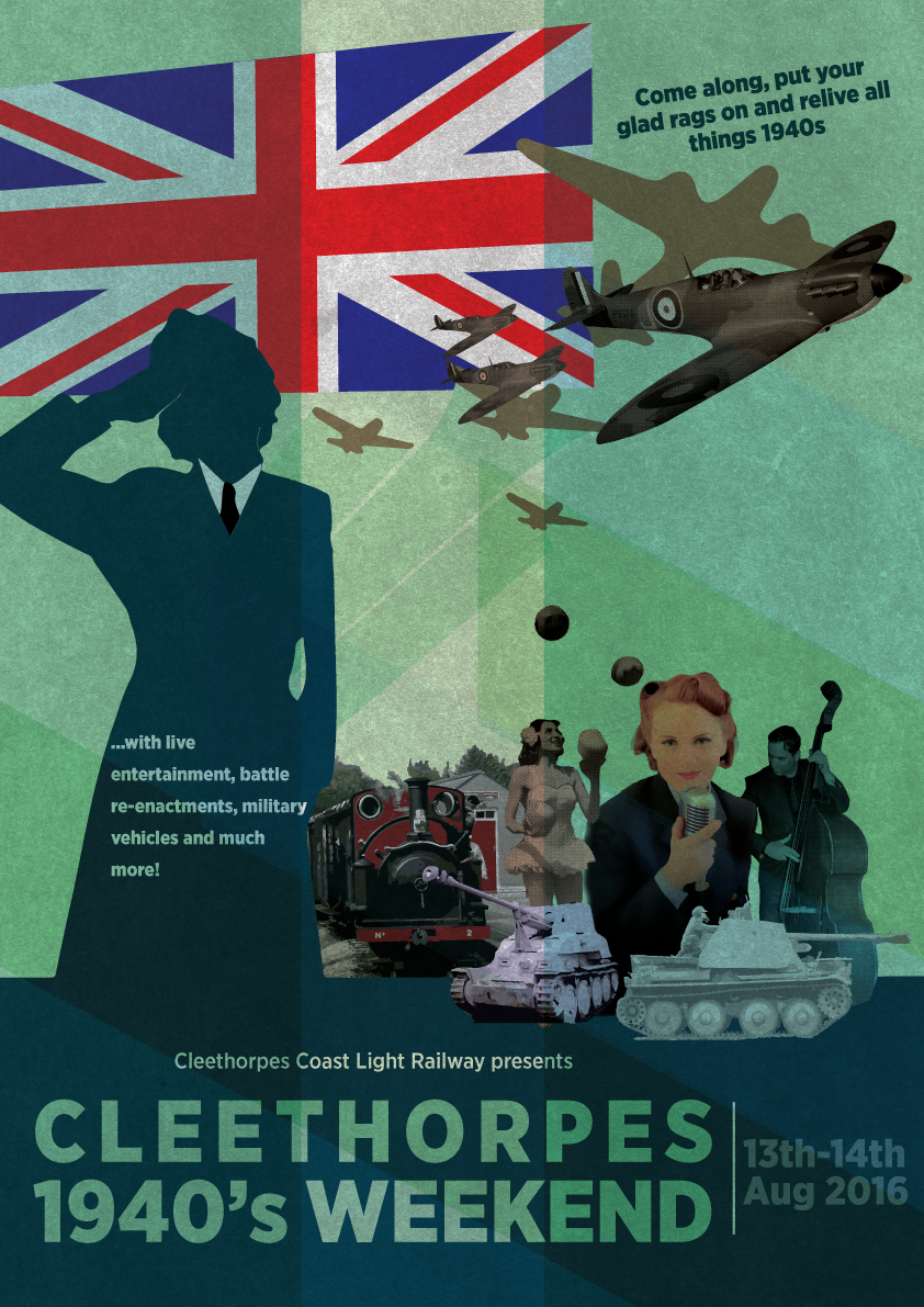 Poster design 1940 - Poster Design By R1z4ln00r For 1940s Weekend Poster For Tourist Attraction United Kingdom Design
