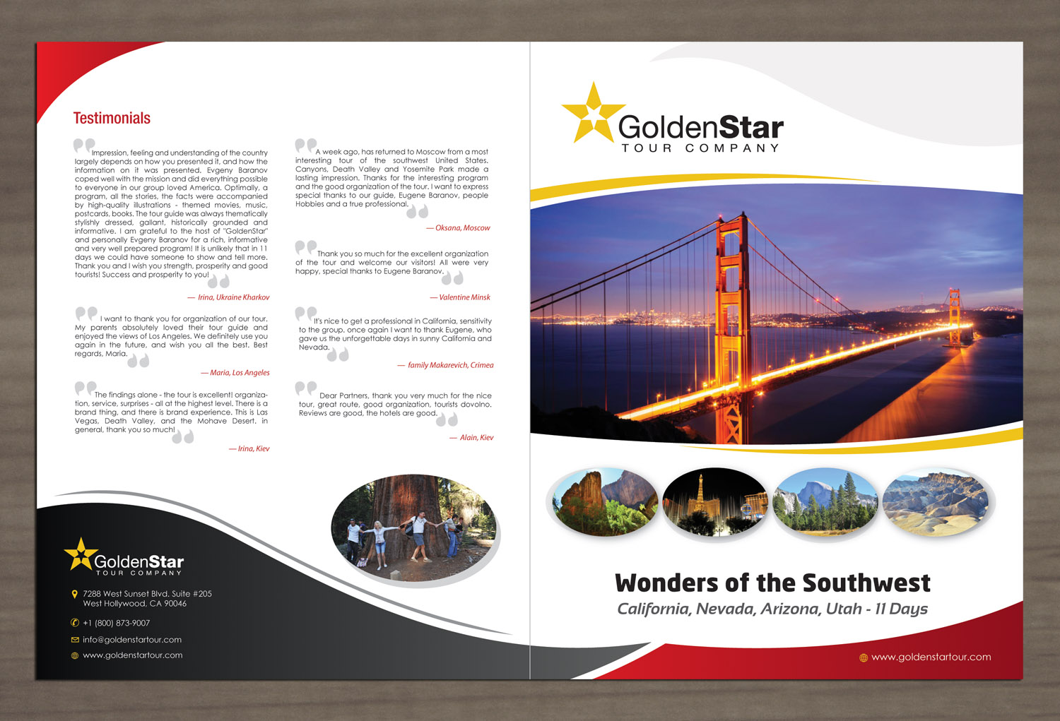 moderne professionnelle brochure design for golden star. Black Bedroom Furniture Sets. Home Design Ideas